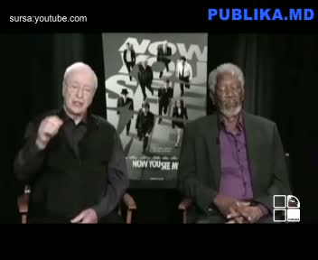 Morgan Freeman Falls Asleep During Live Interview w/ Michael Caine