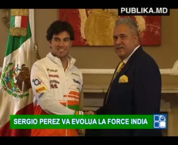 SERGIO PEREZ VA EVOLUA LA FORCE INDIA