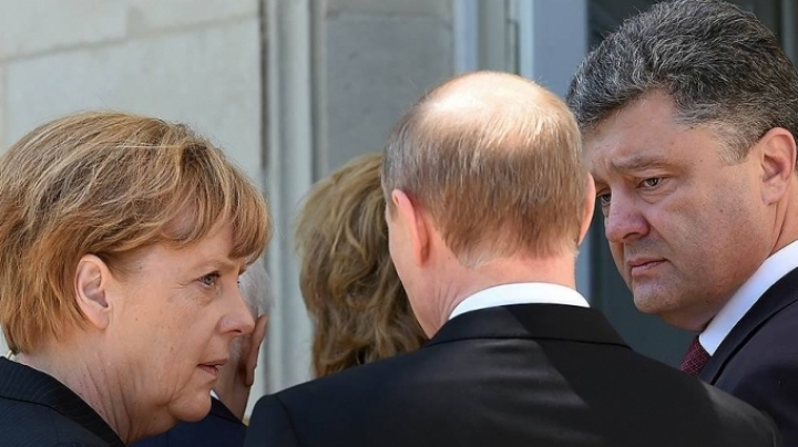 Putin discussed the situation in Donbas with Poroshenko, Merkel and Hollande