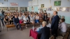 Prime minister Pavel Filip visits high school and kindergarten of Dorotcaia