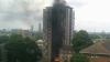 Blaze at South London tower block fills the sky with giant plumes of thick black smoke