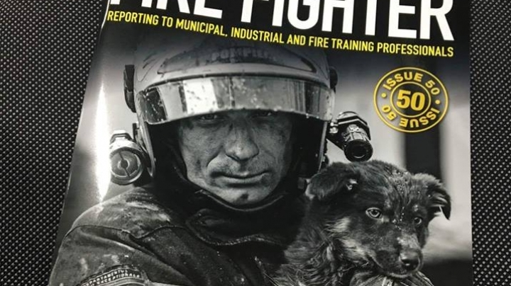 Firefighter from Moldova who got on US famous magazine front-page