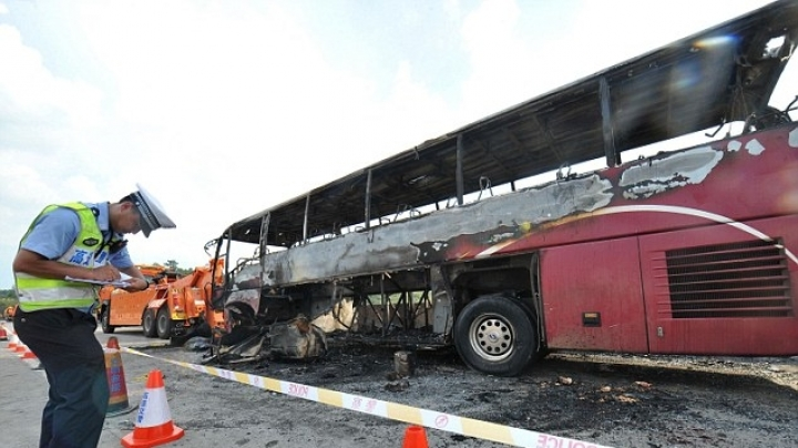 Thirty-five passengers confirmed dead in a tour bus fire in China
