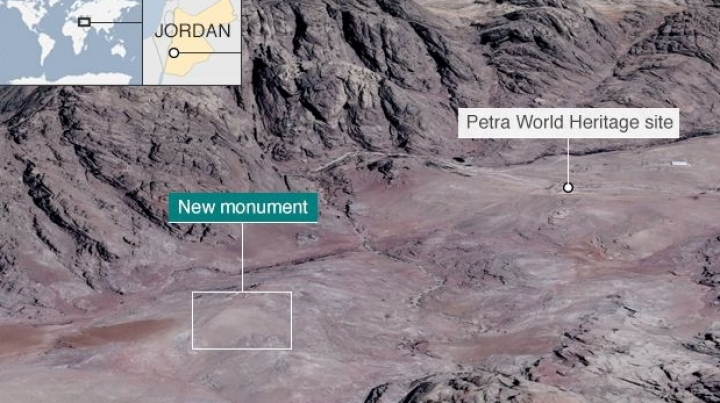 Huge monument found 'hiding in plain sight' in Petra, Jordan