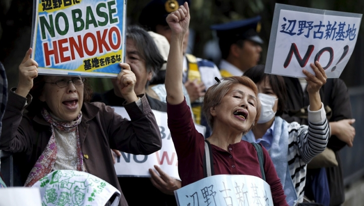 Large demonstration against U.S. military on Okinawa