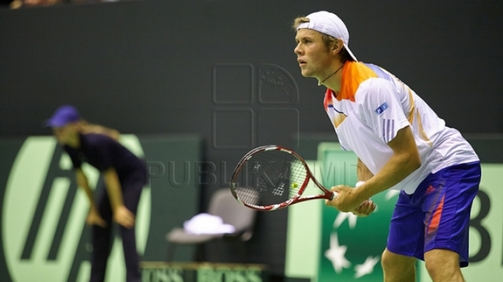 Moldovan tennis player Radu Albot loses tournament in Moscow