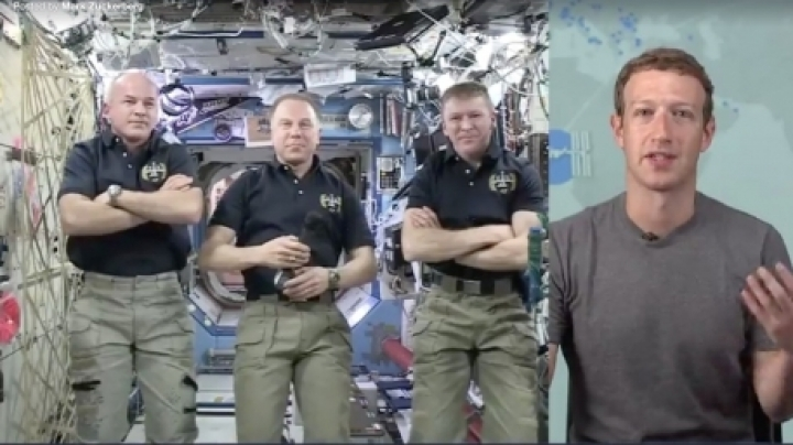 Mark Zuckerberg calls astronauts in space today via Facebook Live