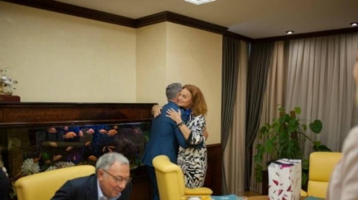 Vlad Plahotniuc and US designer Diane von Furstenberg discuss business and charities