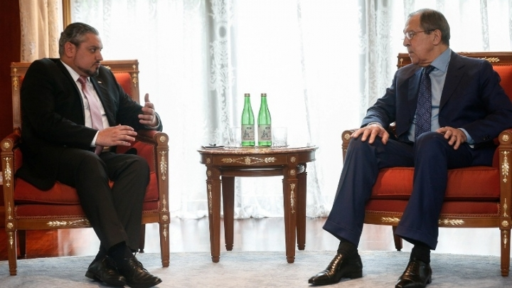 Foreign Minister Andrei Galbur met with his Russian counterpart Sergey Lavrov