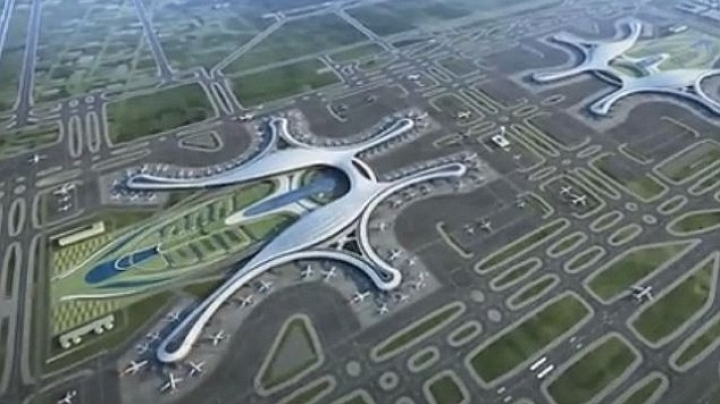 China will build a 7.6 billion USD airport that will handle 90 million passengers a year