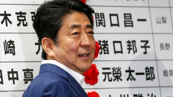 Japanese exit polls show increase of popularity for prime minister Shinzo Abe