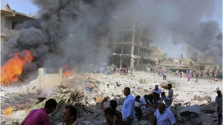 Massive bombing in Kurdish city in north-east Syria kills 44 people