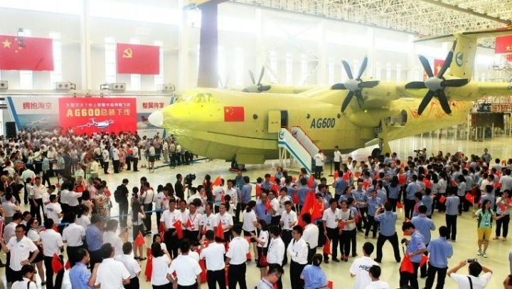 Largest amphibious aircraft built in China