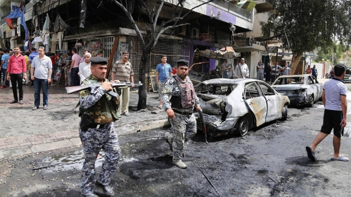 21 die in blast in Shia block of Baghdad. ISIS claims attack