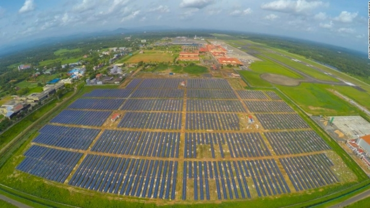 No more electricity bills. First airport on solar panels operates in India