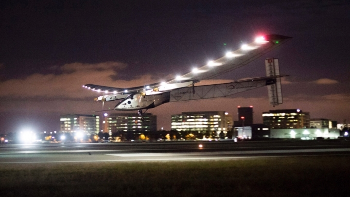 First solar-powered aircraft reaches Abu Dhabi, completing journey around world