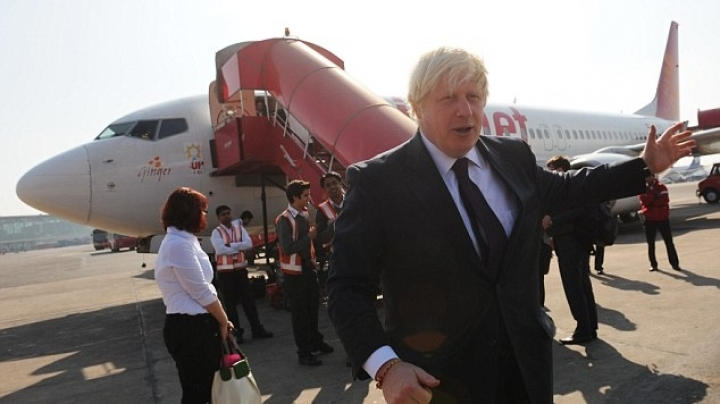 Boris Johnson gets ridiculed after his plane is forced to make an emergency landing