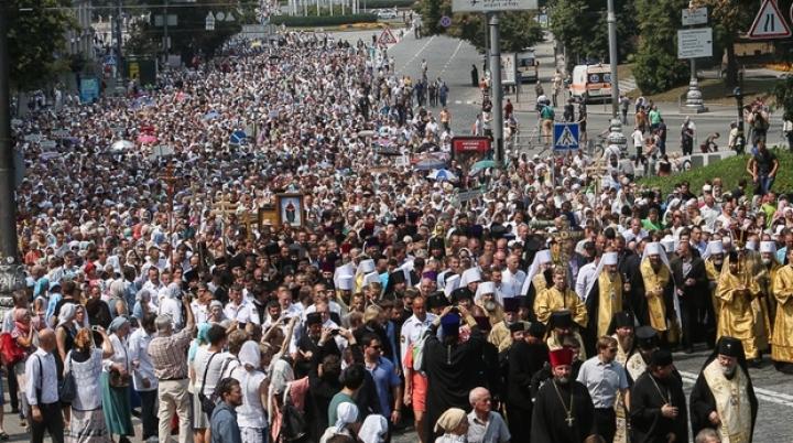 Over 10,000 Orthodox believers mark baptism of Kievan Rus. Police found grenades in mob