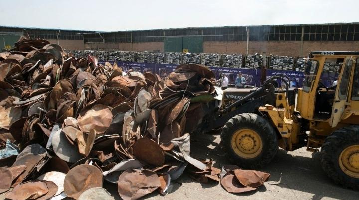 Raid against 'morality-deviating' satellite dishes. Iran annihilates 100,000
