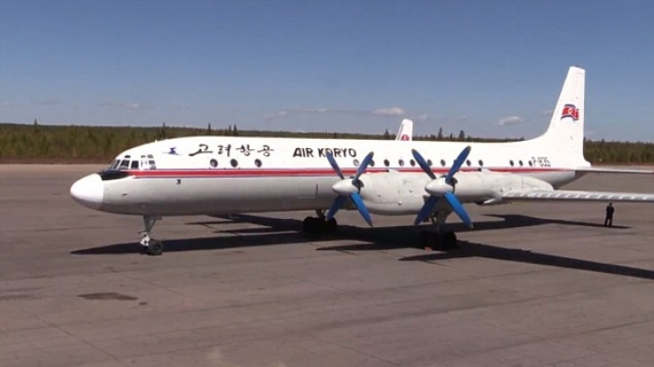 North Korean passenger aircraft forced to make emergency landing in China after catching fire