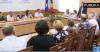 Meeting in Mandra village led by democrat deputy, Sergiu Sîrbu