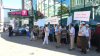 Orhei residents continue their protests in front of Jurnal TV headquarters