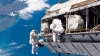 Commercial spaceships are welcome. Astronauts install new platform for them