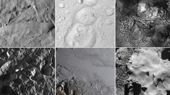Spacecraft reveal diversity in solar system's landscapes
