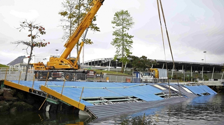Olympic sailing ramp collapses a week before competition starts in Rio