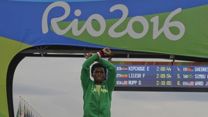 Ethiopian athlete's hand signal could see him KILLED by his own government when he returns home