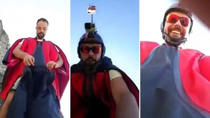 Italian wingsuit pilot broadcasts his own death live on Facebook as daring Alps jump ends in tragedy