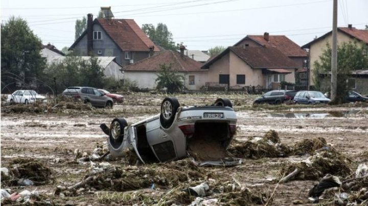 At least 15 people died after huge storms caused floods in Skopje