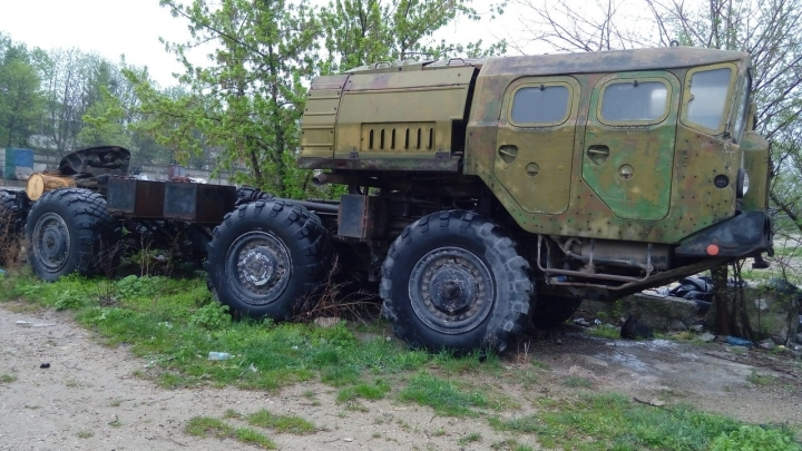 A rocket transporter is being sold on a Moldovan trade website