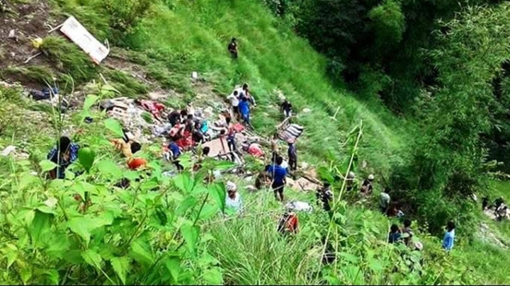 At least 33 people lost their lives and more than 35 got injured in a bus crash in Nepal