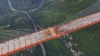 World's highest bridge is near completion in Guizhou province, China