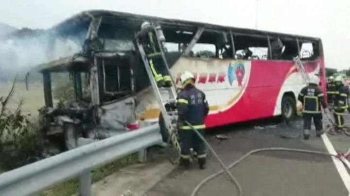 Taiwan: Suicidal bus driver crashed, killed 26