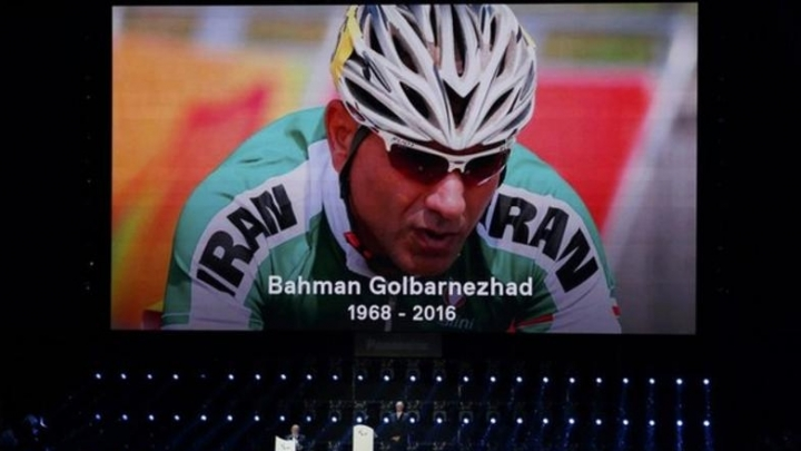 Paralympics closing ceremony as a tribute to Iranian cyclist dead during race