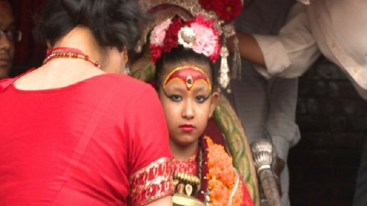 7-year-old Nepali girl worshipped as a living goddess on earth
