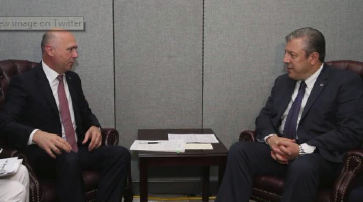 Georgian PM accepts Moldovan counterpart's invitation to visit Chisinau