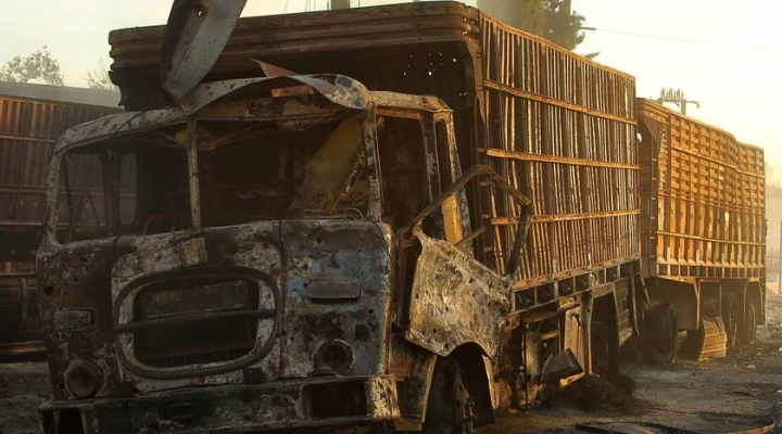 U.S. slaps Russia for attacking humanitarian convoy in Syria
