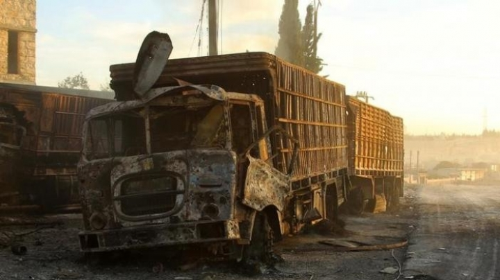 Aid convoy, warehouse attacked in Syria