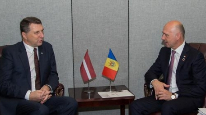 Latvia goes on supporting Moldova's European course. Filip discussed with Vējonis