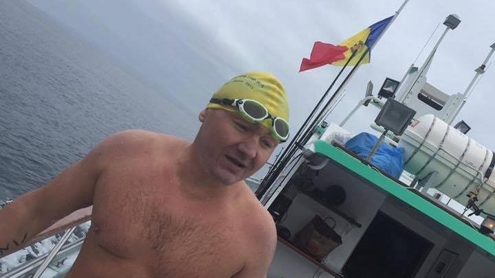 Moldovan swimmer Ion Lazarenco crossed Catalina Channel in California