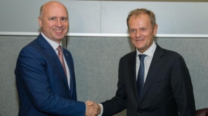 Tusk tells Filip EU will back Moldova in carrying out its European aspirations
