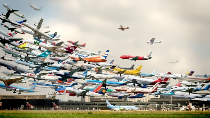 Air traffic jumped more than 6% worldwide last year