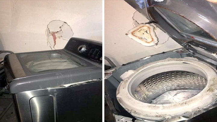 Hard times for Samsung. Its washing machines explode, too