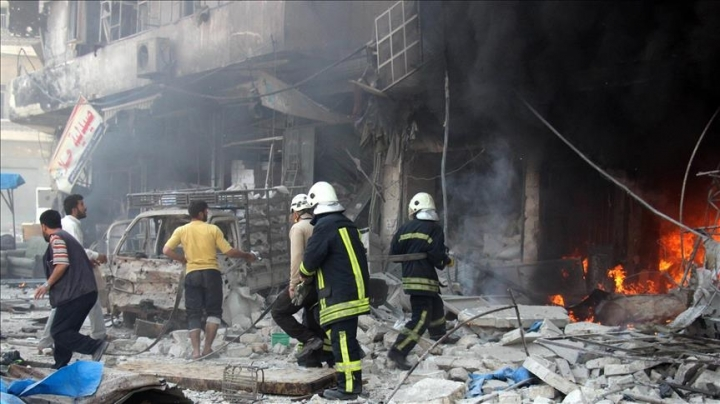 At least 26 people have been killed in airstrikes in Aleppo