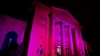 Romanian President's official residence turns pink for fight against breast cancer
