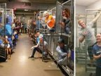 Volunteers celebrate in empty kennels after 800 pets adopted in one weekend