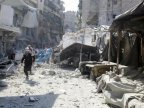 Rescue worker says two days of bombing kill 145 in rebel-held eastern Aleppo